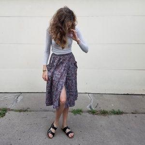 Handmade Full Wrap Skirt Colorful Paisley